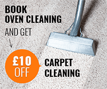 Book Oven Cleaning and Get £10 Off Carpet Cleaning